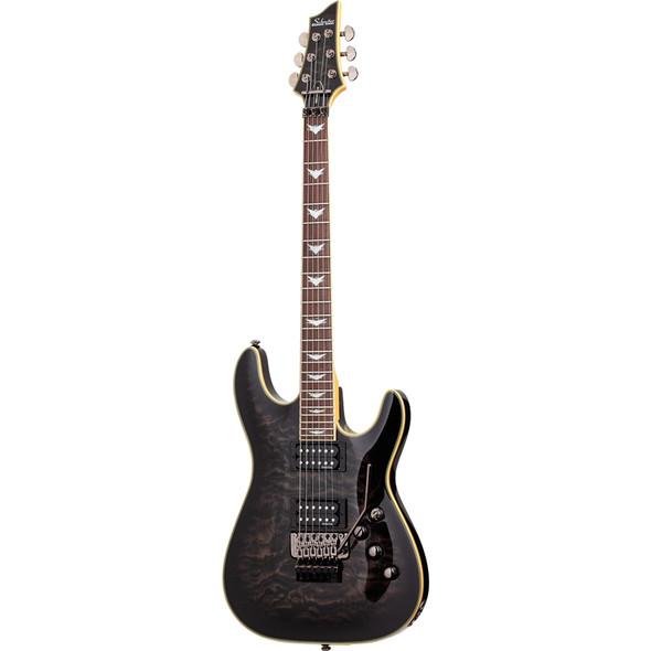 Schecter Omen Extreme-6 FR Electric Guitar, See-Thru Black