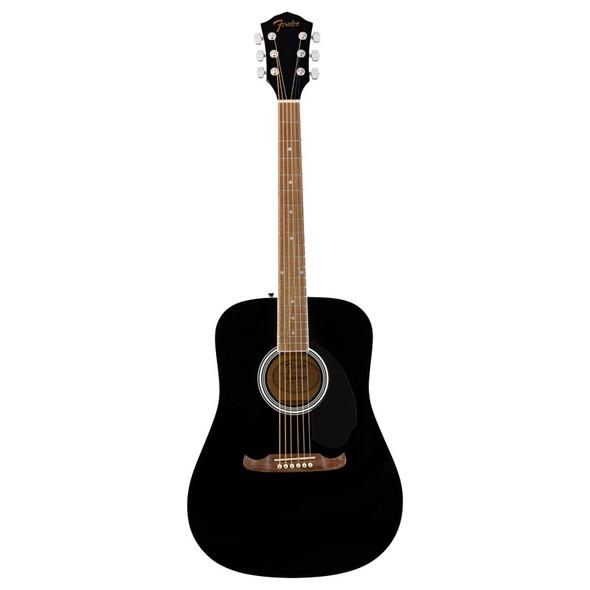 Fender FA-125 Dreadnought Acoustic Guitar, Black w/Gigbag
