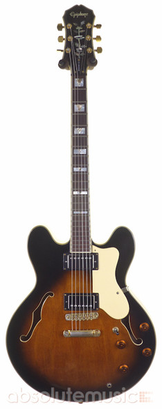 Epiphone Sheraton II Semi-Hollow Electric Guitar, Sunburst with Gibson Pickups & Case (pre-owned)