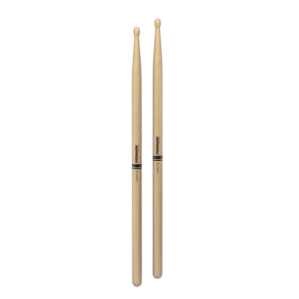 Promark TX2BW Classic 2B Hickory Wood Tip Drumsticks