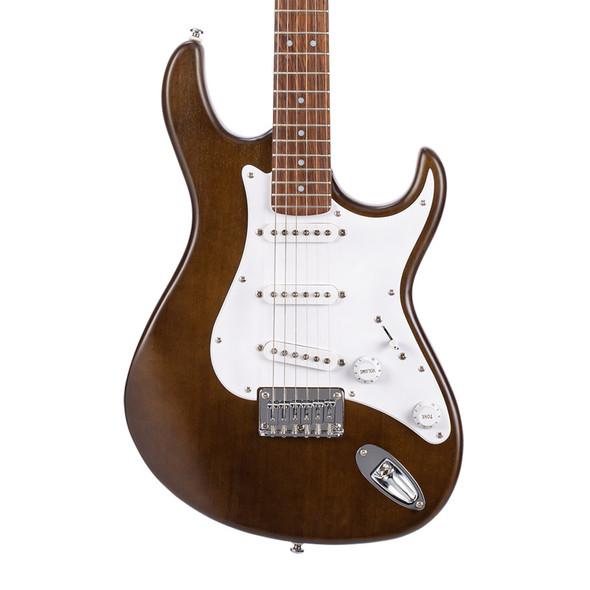 Cort G100 Electric Guitar, Open Pore Walnut