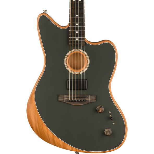 Fender Acoustasonic Jazzmaster Electro Acoustic Guitar, Tungsten