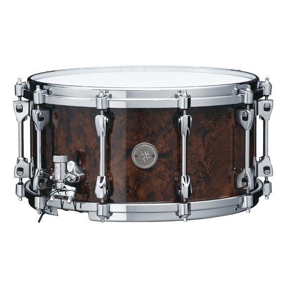Tama PWB147-GWB Starphonic 14x7 Snare Drum in Gloss Black Walnut Burl