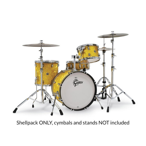 Gretsch Catalina Club 20 Inch Shell Pack in Yellow Satin Flame