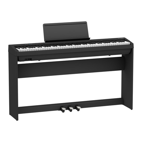 Roland FP-30X Digital Piano with Stand and Pedalboard, Black