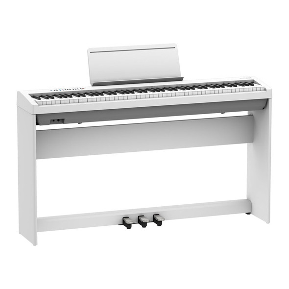 Roland FP-30X Digital Piano with Stand and Pedalboard, White