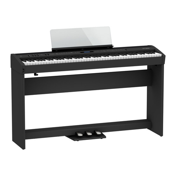 Roland FP-60X Digital Piano with Stand and Pedalboard, Black