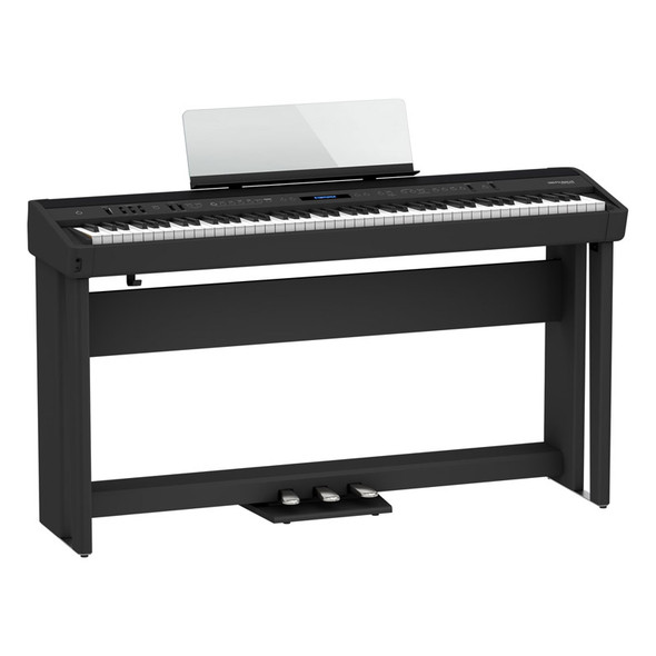 Roland FP-90X Digital Piano with Stand and Pedalboard, Black