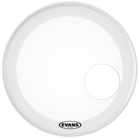 Evans BD22RSW 22 Inch EQ3 Resonant Smooth White Bass Drum Head