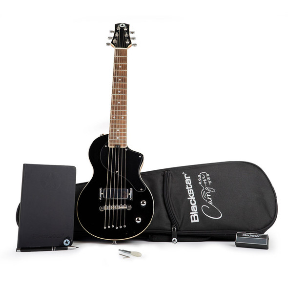 Blackstar Carry-On Standard Pack Travel Guitar, Black with amplug2 Fly