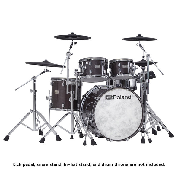 Roland VAD706-GE V-Drums Acoustic Design Drum Kit, Gloss Ebony Premium Finish