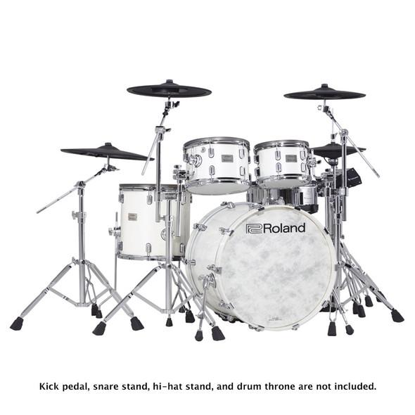 Roland VAD706-PW V-Drums Acoustic Design Drum Kit, Pearl White Premium Finish