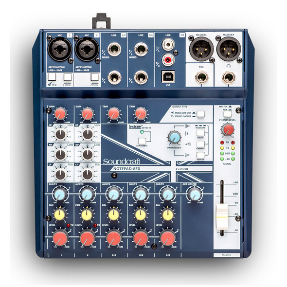 Soundcraft Notepad-8FX 8 Channel Analogue Mixer with USB & FX  (as new)