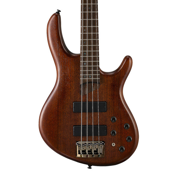 Cort Artisan B4 Plus MH Bass Guitar, Open Pore Mahogany