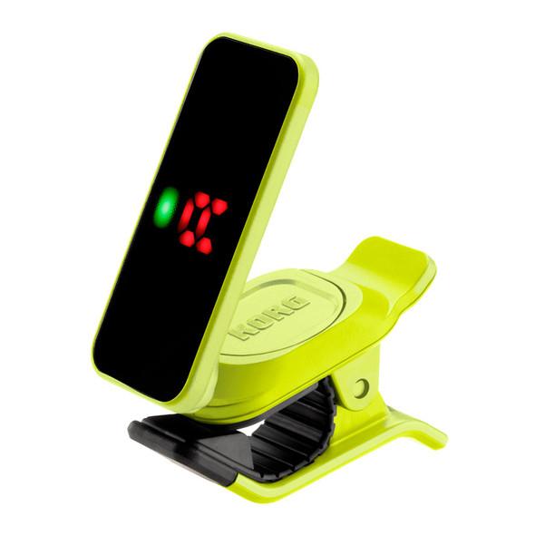 Korg Pitchclip 2 Enhanced Clip-On Tuner, Neon Yellow