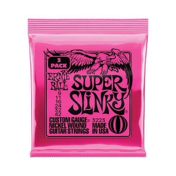 Ernie Ball 3 Pack Super Slinky Electric Guitar Strings