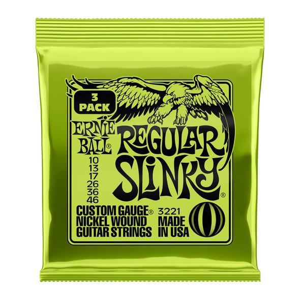 Ernie Ball 10-46 3 Pack Regular Slinky Electric Guitar Strings