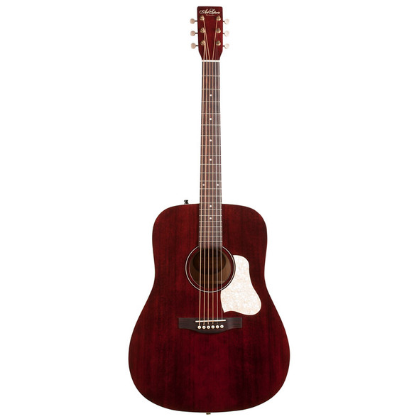 Art & Lutherie Americana Dreadnought Acoustic Guitar, Tennesse Red