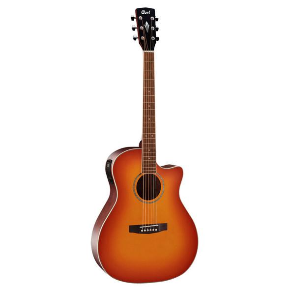 Cort Grand Regal MEDX Electro-Acoustic Guitar, Light Vintage Burst