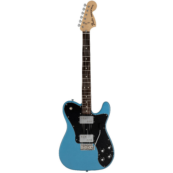 Fender Made in Japan Ltd 70s Telecaster Deluxe Electric Guitar w/tremolo, Lake Placid Blue