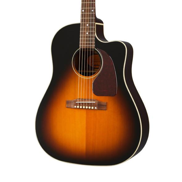 Epiphone Masterbilt J-45 EC Electro-Acoustic Guitar, Aged Vintage Sunburst