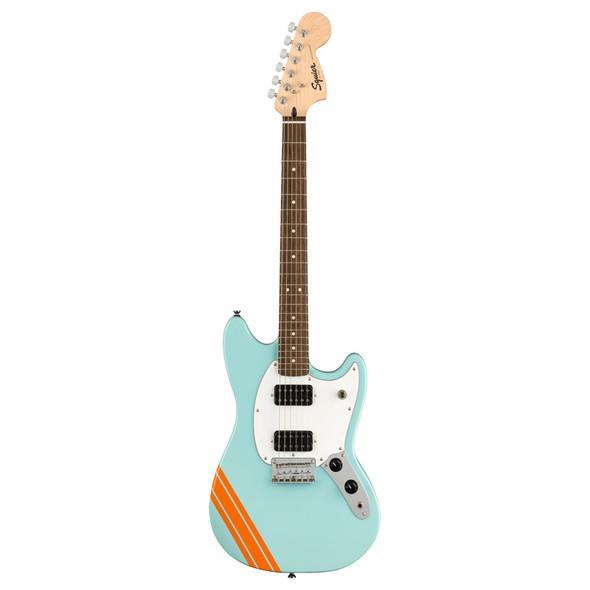 Fender Squier FSR Bullet Competition Mustang HH Electric Guitar, Daphne Blue