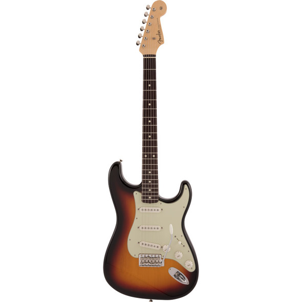 Fender Made In Japan Traditional 60s Stratocaster Electric Guitar, 3 Colour Sunburst, Rosewood