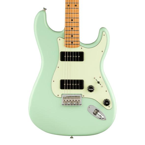Fender Noventa Stratocaster Electric Guitar, Surf Green, Maple