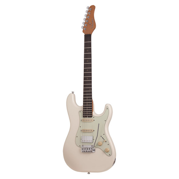 Schecter Nick Johnston Traditional HSS Electric Guitar, Atomic Snow