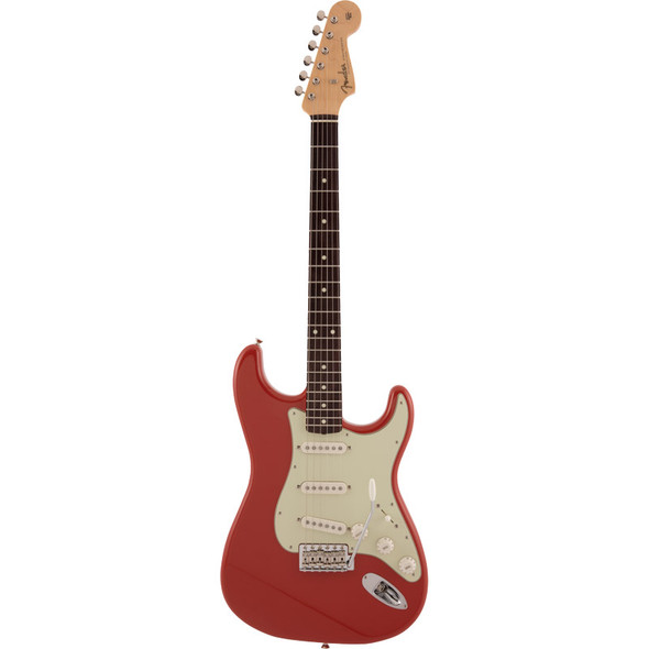 Fender Made In Japan Traditional 60s Stratocaster Electric Guitar, Fiesta Red, Rosewood