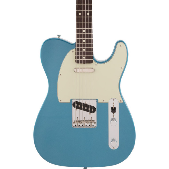 Fender Made In Japan Traditional 60s Telecaster Electric Guitar, Lake Placid Blue, Rosewood