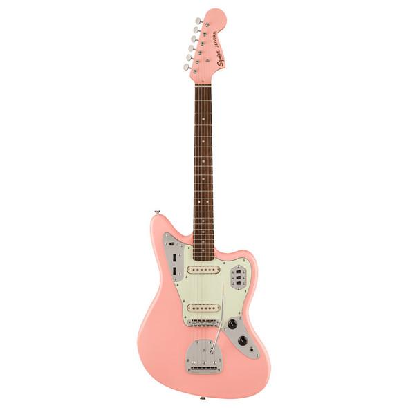 Fender Squier FSR Classic Vibe 60s Jaguar Electric Guitar, Shell Pink