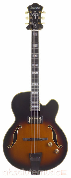 Ibanez Joe Pass JP20 Hollow Body Electric Guitar, Sunburst with Hard Case (pre-owned)