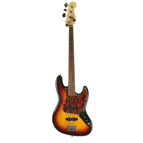 Fender American Standard Jazz Bass Guitar, Fretless, Sunburst w Case (pre-owned)