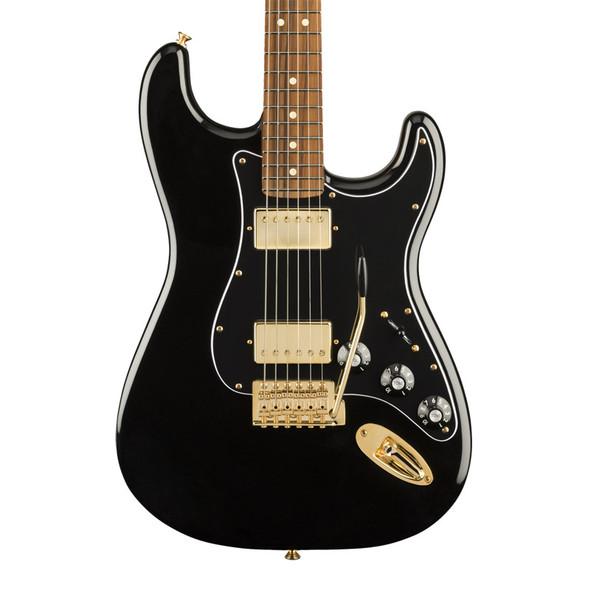 Fender LTD Blacktop Stratocaster HH Electric Guitar, Black, Gold Hardware