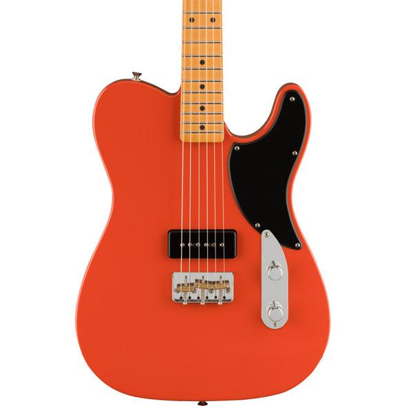 Fender Noventa Telecaster Electric Guitar, Fiesta Red, Maple Fretboard  (ex-display)