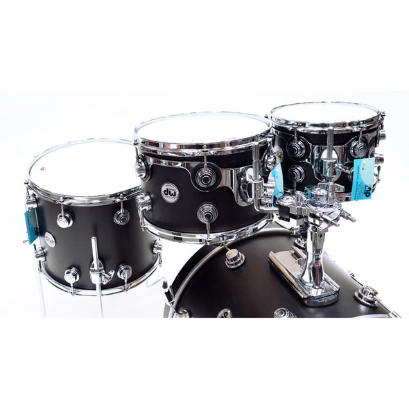 DW Drum Workshop Collectors Maple PurpleCore 20 Inch Shell Pack in Satin Oil Ebony