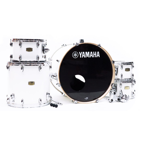 Yamaha Stage Custom Shell Pack in Pure White with 8 Inch Tom (pre-owned)
