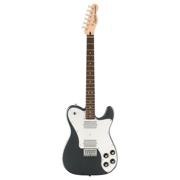 Fender Squier Affinity Series Telecaster Deluxe Electric Guitar, Charcola Frost Metallic, Laurel