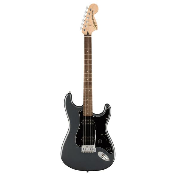 Fender Squier Affinity Series Stratocaster HH Electric Guitar, Charcoal Mist Metallic, Laurel