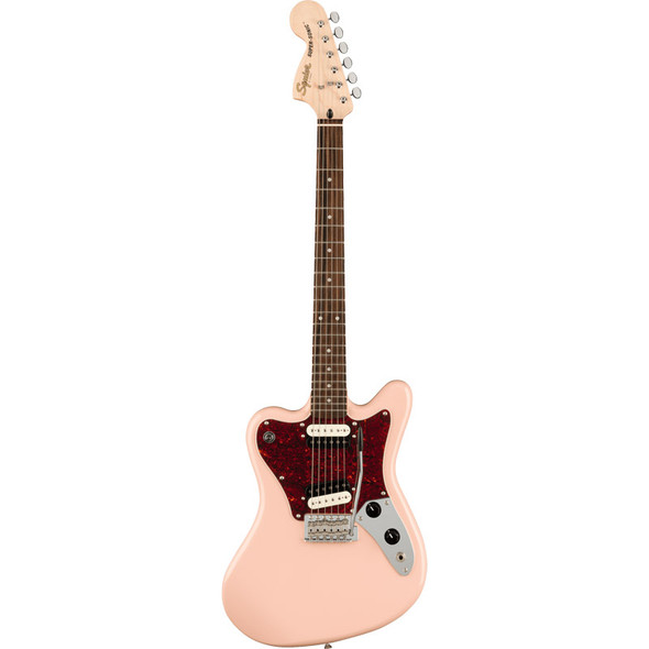 Fender Squier Paranormal Super Sonic Electric Guitar, Shell Pink, Laurel