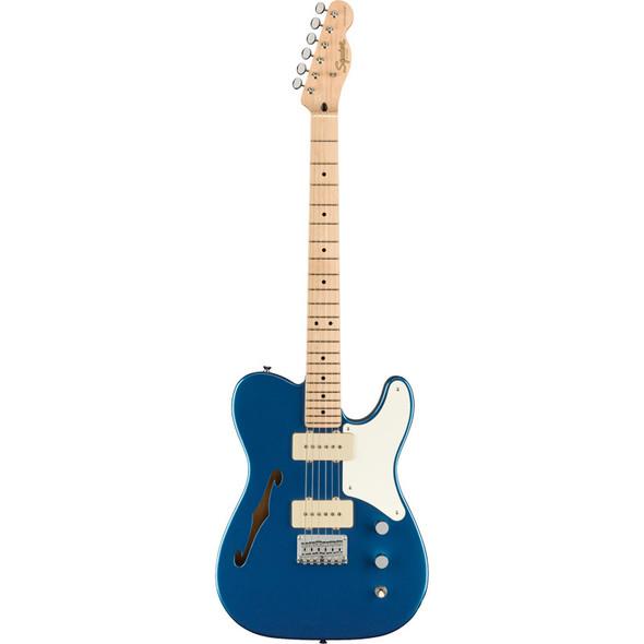 Fender Squier Paranormal Cabronita Telecaster Thinline Electric Guitar, Lake Placid Blue, Maple
