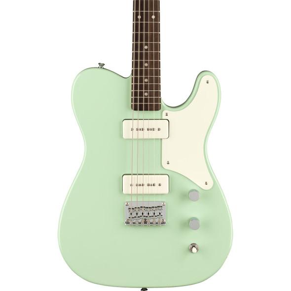 Fender Squier Paranormal Baritone Cabronita Telecaster Electric Guitar, Surf Green, Laurel