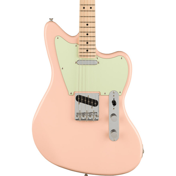 Fender Squier Paranormal Offset Telecaster Electric Guitar, Shell Pink, Maple