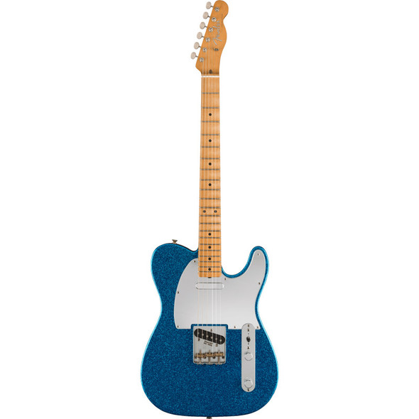 Fender J Mascis Telecaster Electric Guitar, Bottle Rocket Blue Flake, Maple