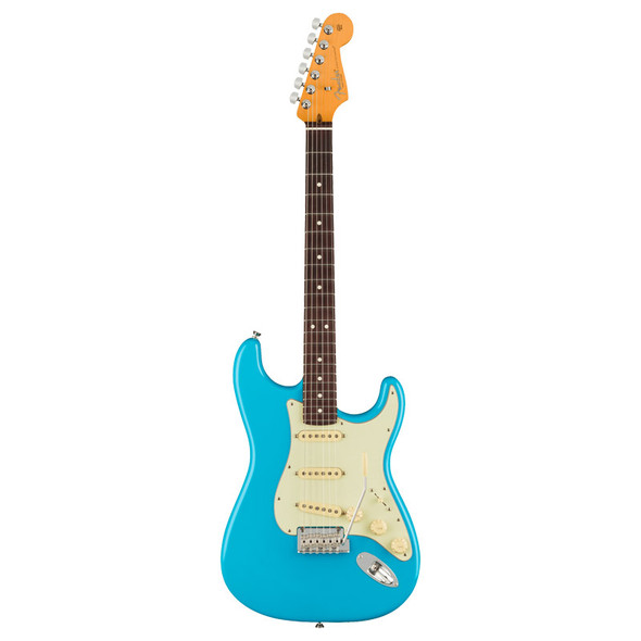 Fender American Pro II Stratocaster Electric Guitar, Miami Blue, Rosewood Neck (ex-display)