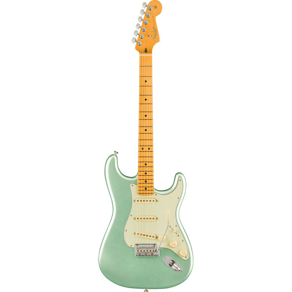 Fender American Pro II Stratocaster Electric Guitar, Mystic Surf Green, Maple (b-stock)