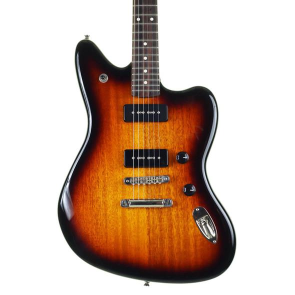 Fender Modern Player Jaguar P-90 Electric Guitar, 2 Colour Chocolate Burst w Gig Bag (pre-owned)
