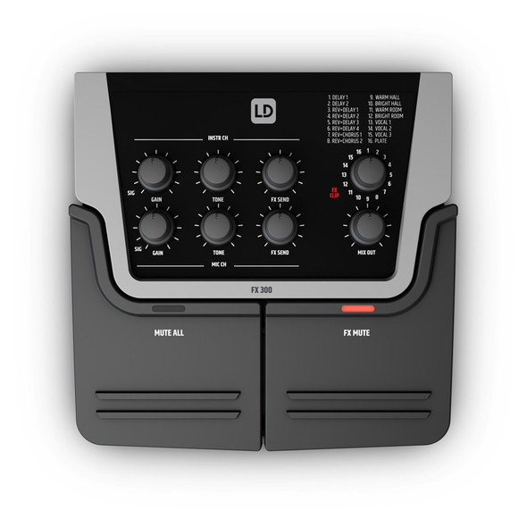 LD Systems FX300 2-Channel Vocal and Guitar Effects Unit  (ex-display)