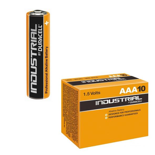 Duracell Industrial Akaline Batteries, AAA, 10 Pack